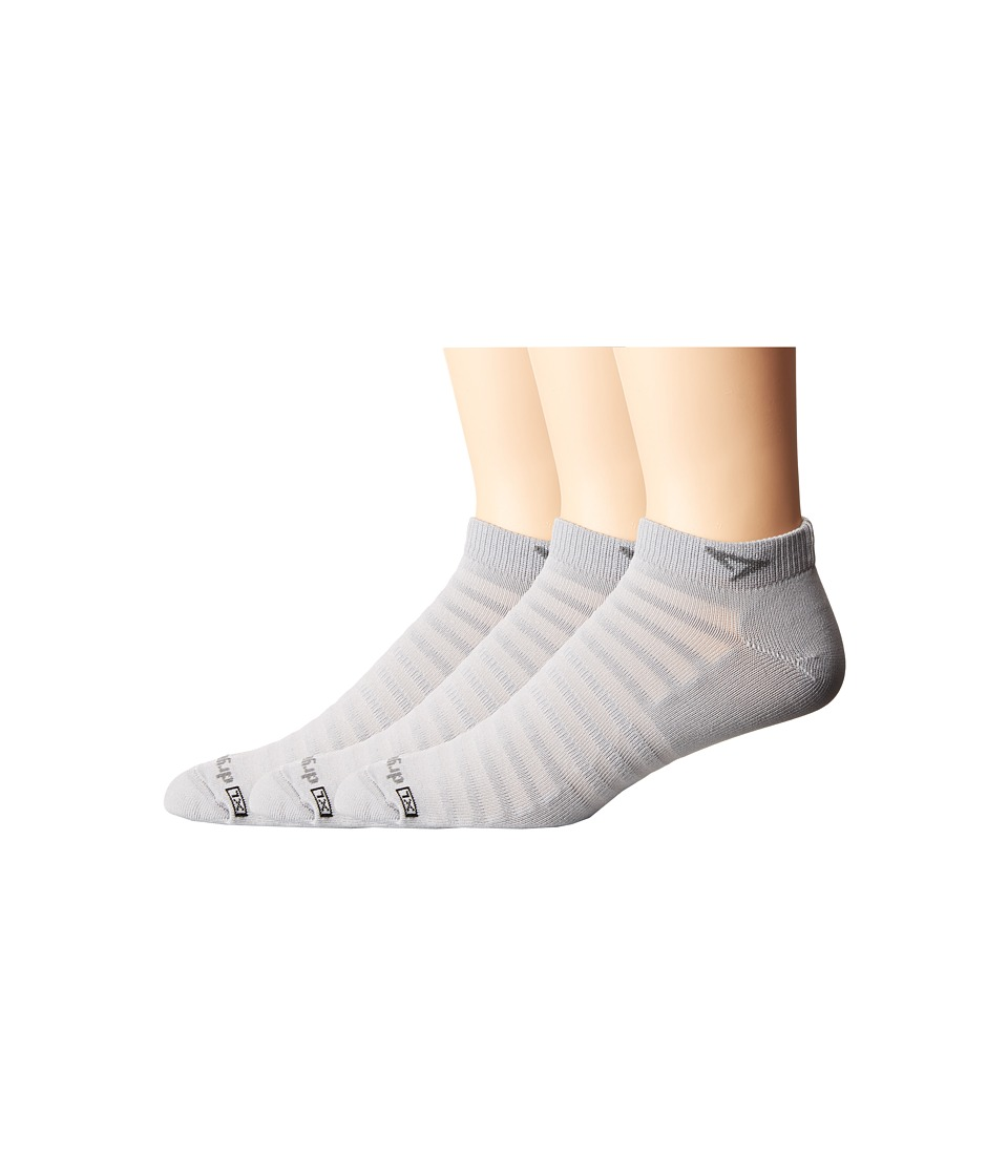 Drymax Sport Hyper Thin Running Mini Crew 3 Pack Grey Low Cut Socks Shoes