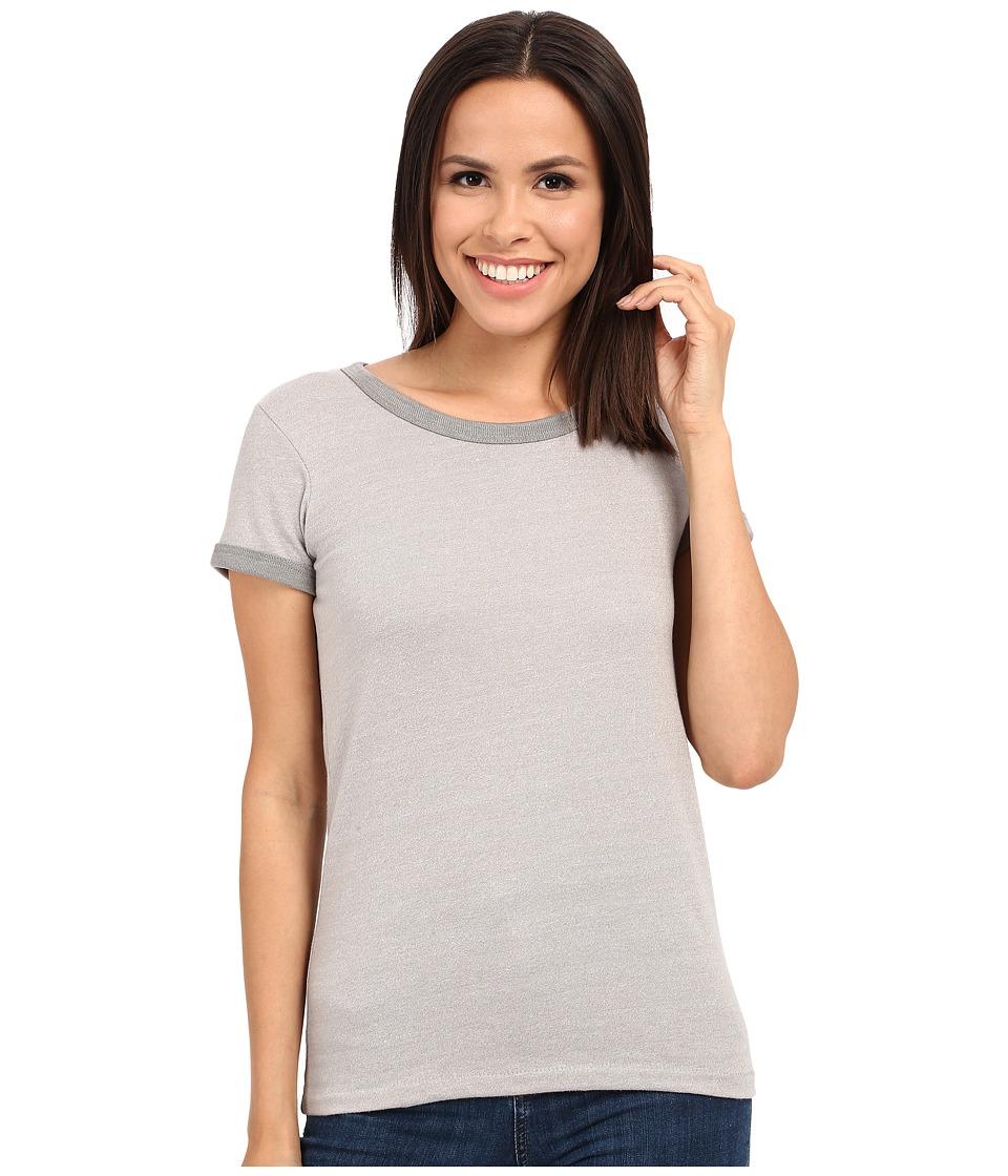 Alternative Eco Mock Twist Jersey Ideal Ringer Tee Eco Mock Nickel Womens T Shirt