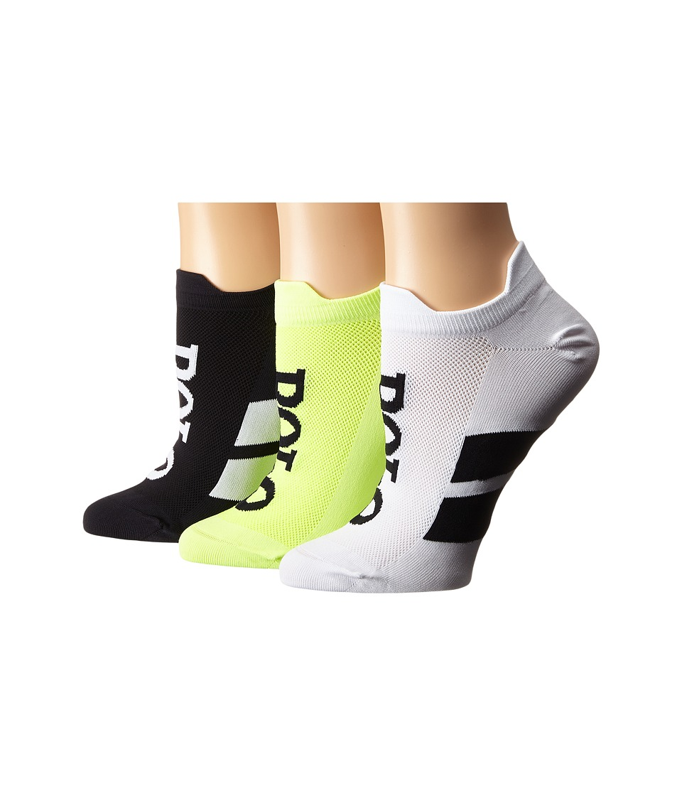 LAUREN Ralph Lauren Double Tab Micro Racing Stripe Polo Ped 3 Pack Black Assorted Womens Crew Cut Socks Shoes