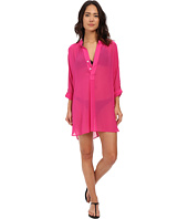 Tommy Bahama - Knit & Chiffon Mandarin Collar Tunic Cover-Up