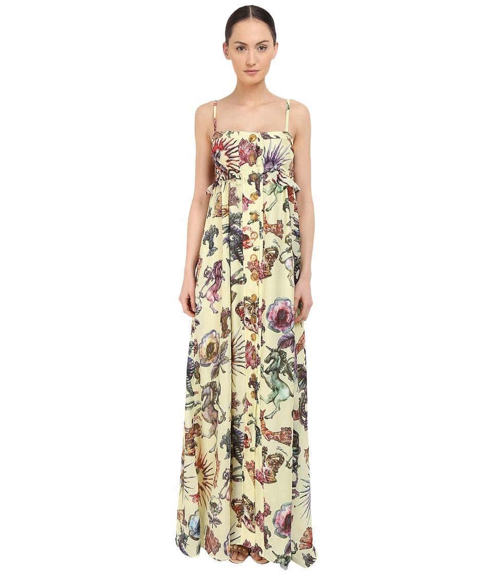 Just Cavalli Love Royal Printed Maxi Dress Multi Variant Womens Dress