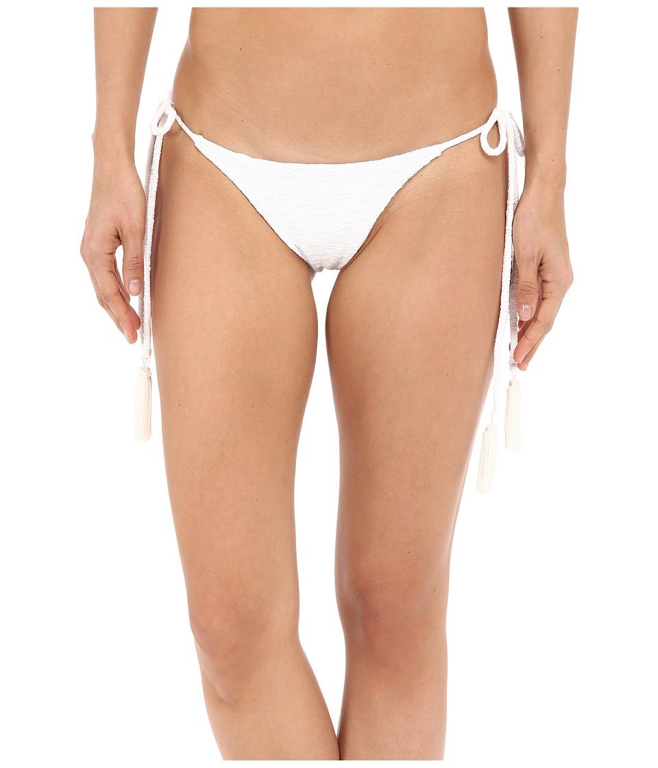 Beach Riot Stone Cold Fox Ivy Bottom White Texture Womens Swimwear