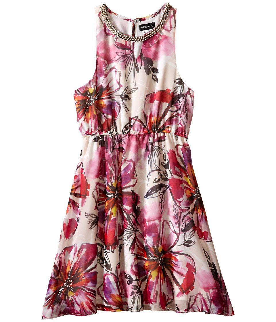 Marciano Kids Lola Printed Dress w/ Braid Det Big Kids Print Girls Dress