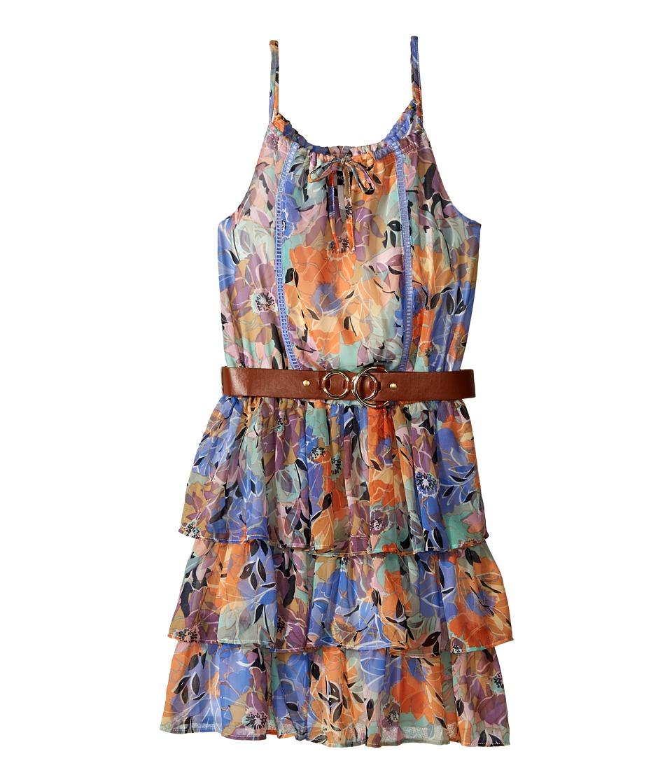 Marciano Kids Printed Chiffon Halter Dress Big Kids Print Girls Dress