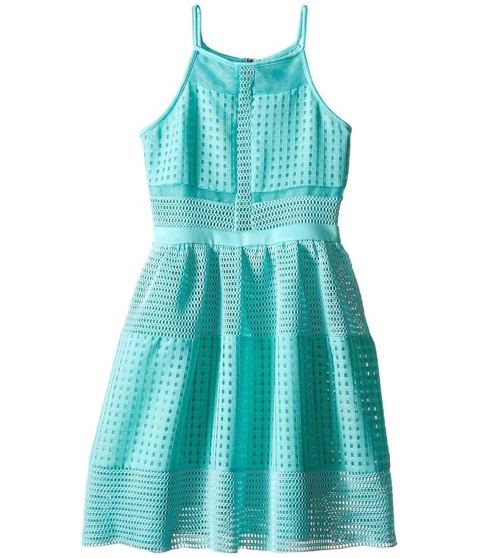 Marciano Kids Oversized Mesh Dress Big Kids Aqua Girls Dress