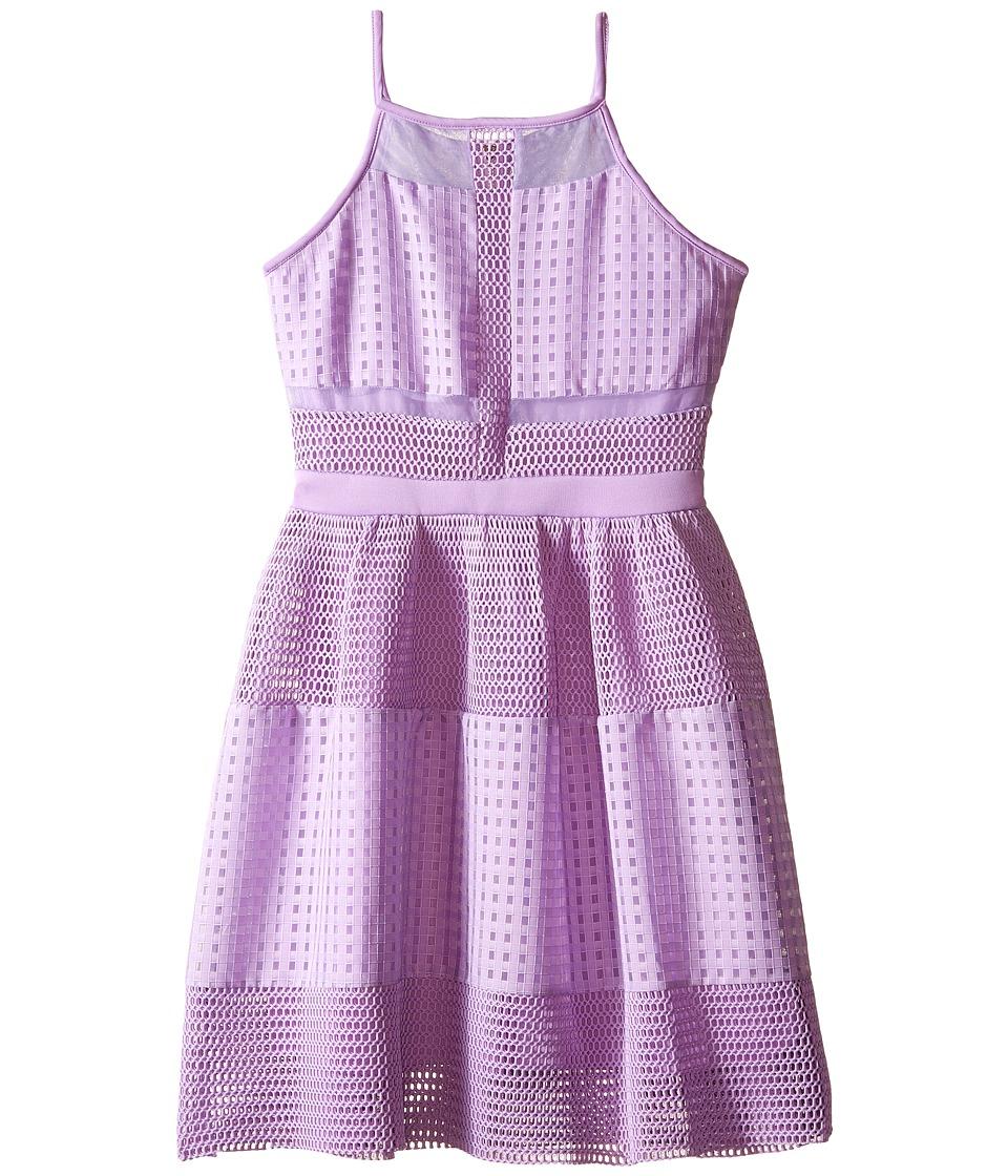 Marciano Kids Oversized Mesh Dress Big Kids Lilac Girls Dress