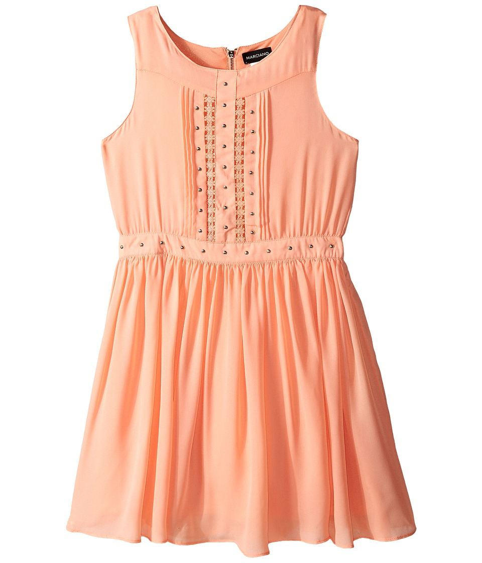 Marciano Kids Embellished All Over Lace Dress Big Kids Peach Girls Dress