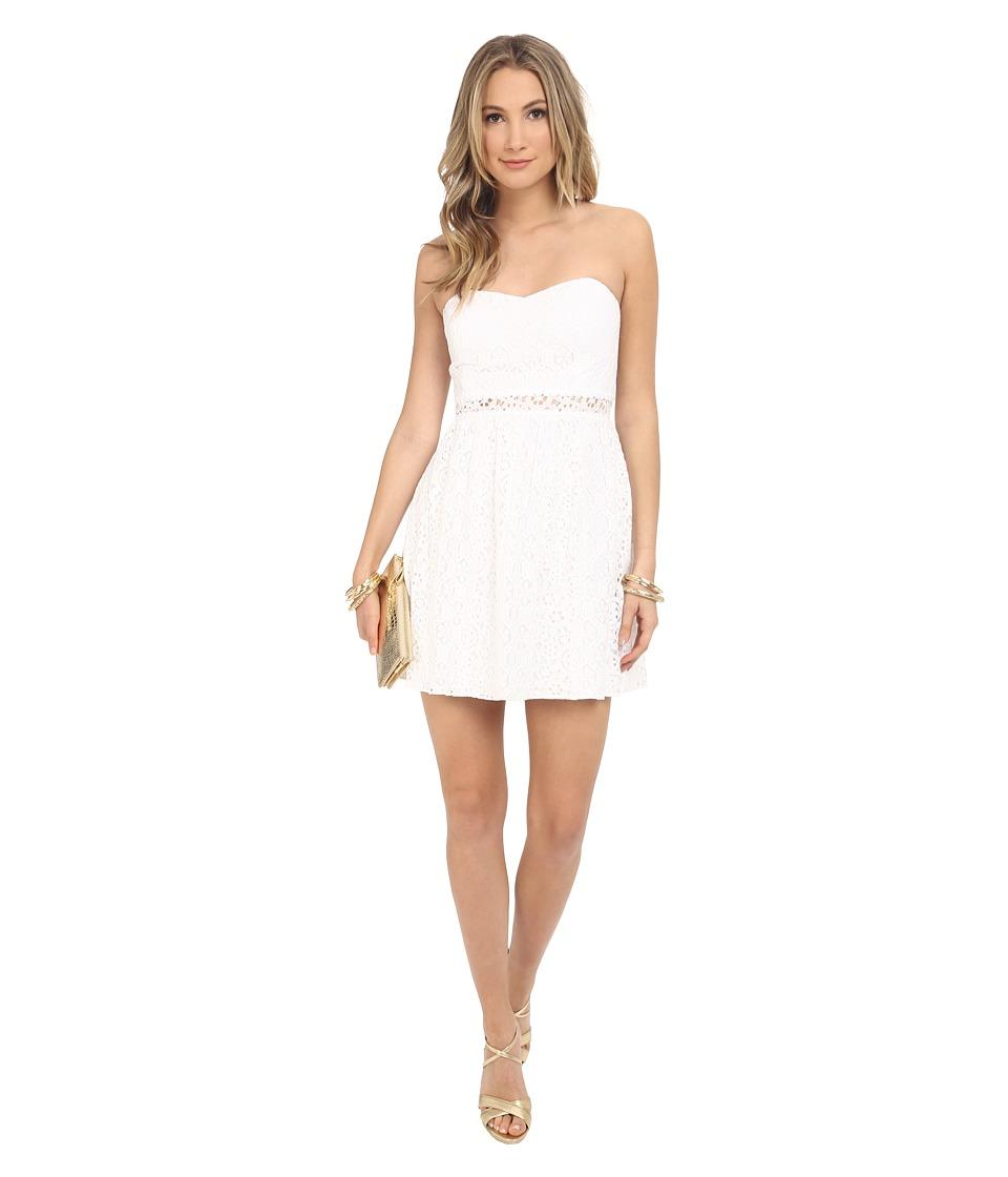 Lilly Pulitzer Brett Dress Resort White Womens Dress