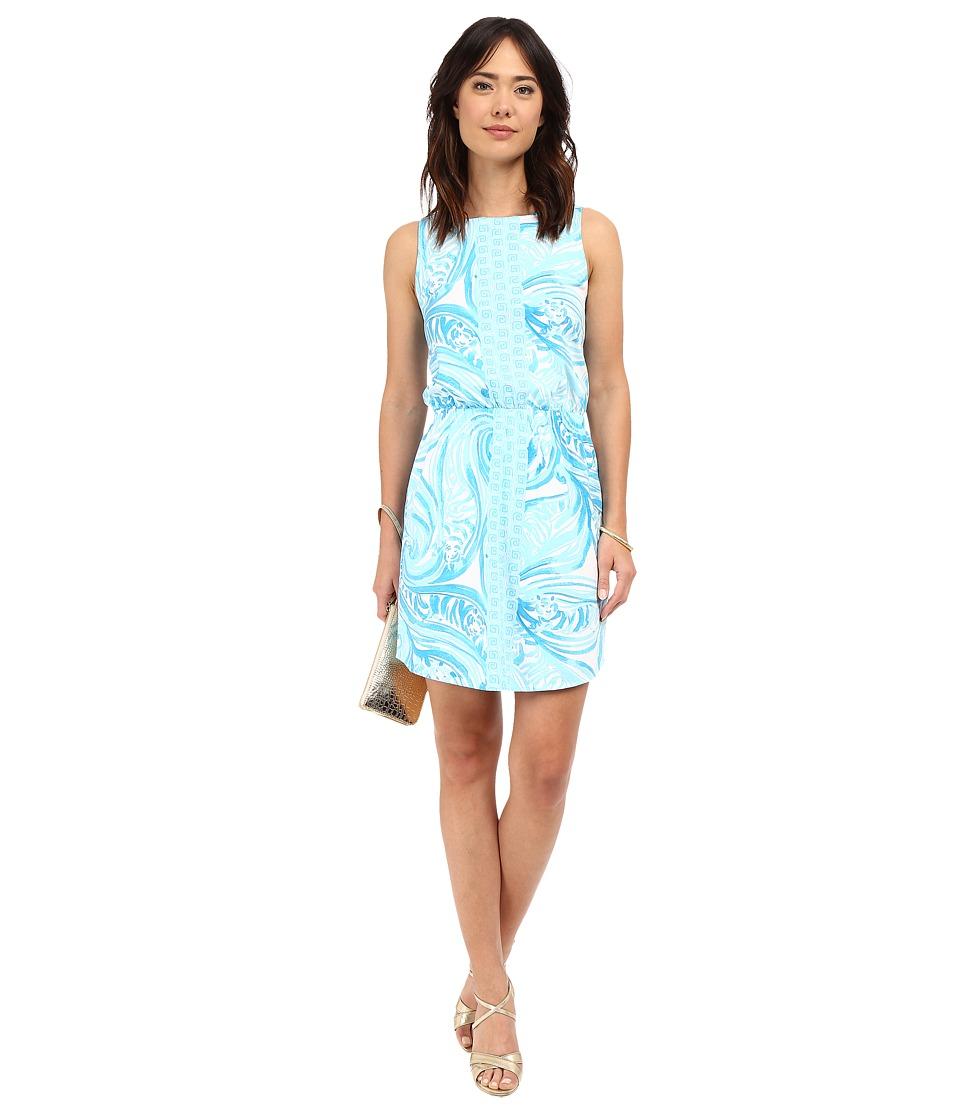 Lilly Pulitzer Windward Dress Resort White Sea Ruffles Engineered Womens Dress