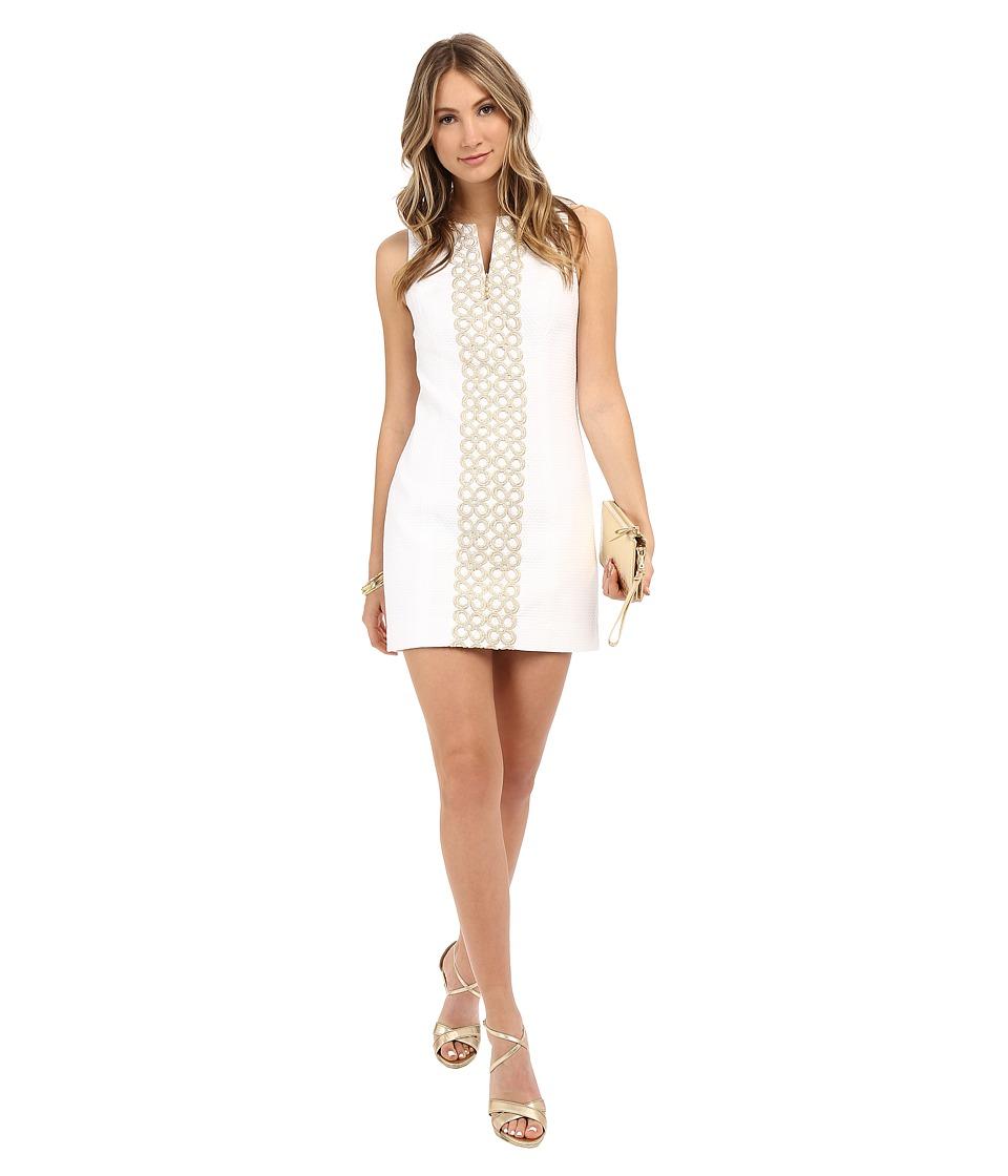 Lilly Pulitzer Mila Shift Dress Resort White Womens Dress