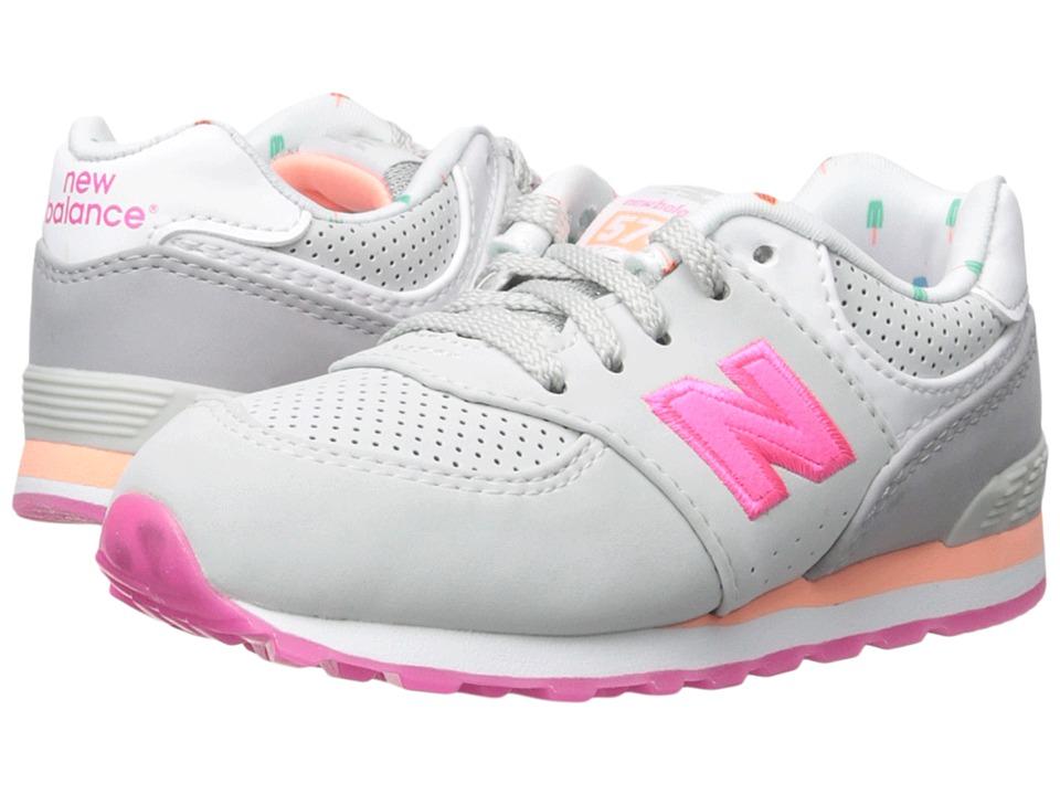 New Balance Kids - State Fair 574 (Infant/Toddler) (Grey/Pink) Girls Shoes