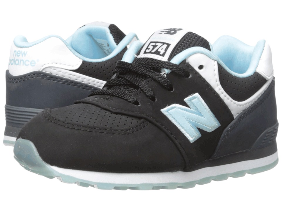New Balance Kids - State Fair 574 (Infant/Toddler) (Black/Blue) Kids Shoes