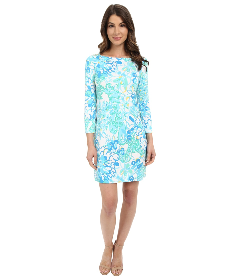 Lilly Pulitzer UPF 50 Sophie Dress Resort White In A Pinch Womens Dress
