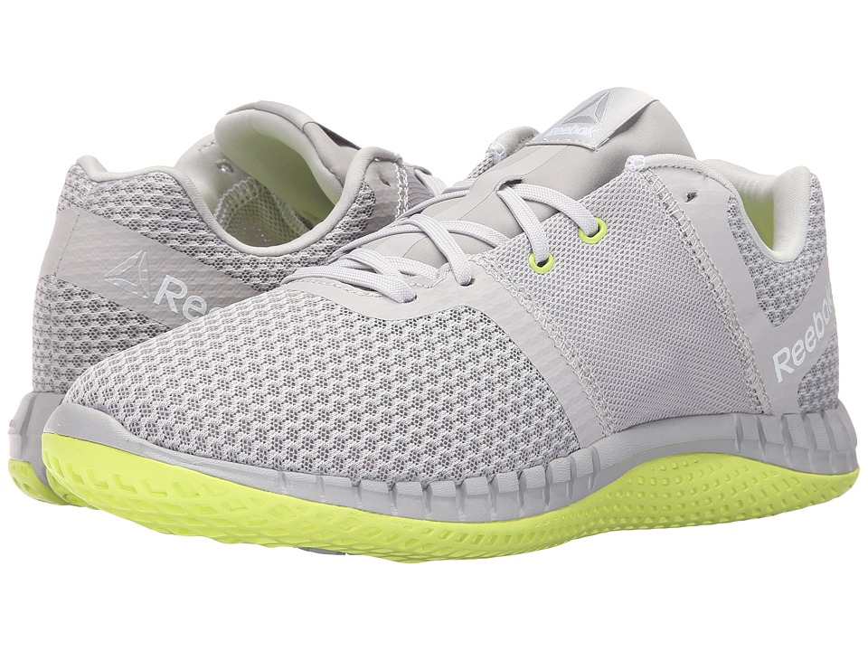 Reebok - ZPrint Run EX (Steel Carbon/White/Solar Yellow) Womens Shoes