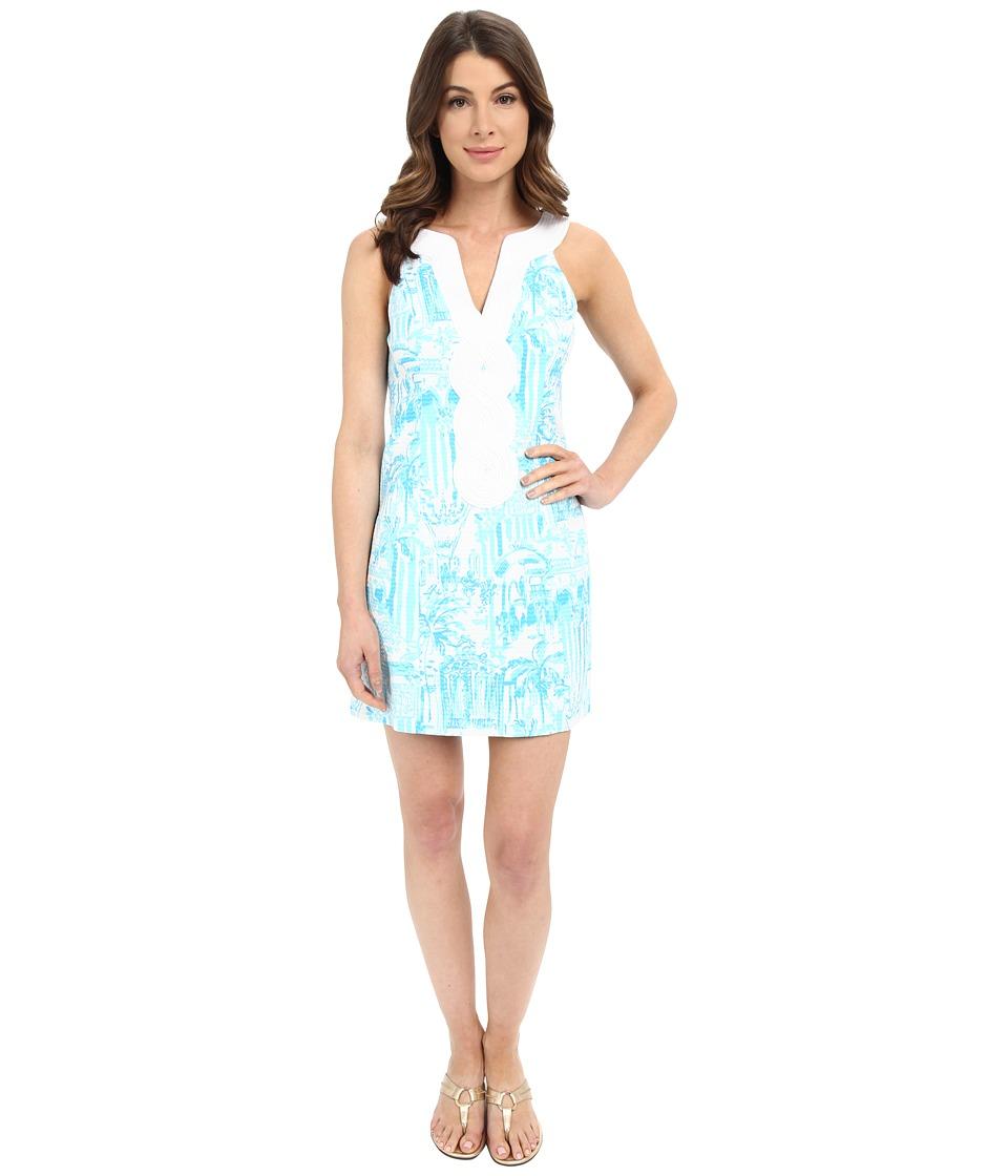 Lilly Pulitzer Valli Shift Dress Resort White La Via Loca Womens Dress