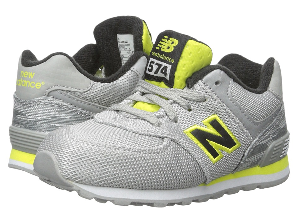 New Balance Kids Summer Waves 574 Infant/Toddler Grey/Yellow Boys Shoes
