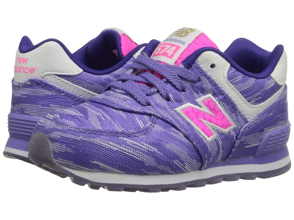New Balance Kids Summer Waves 574 Infant/Toddler Purple/Purple Girls Shoes