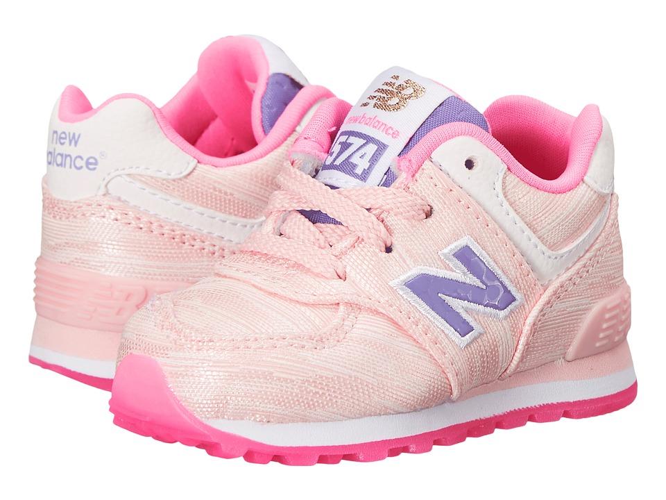 New Balance Kids Summer Waves 574 Infant/Toddler Pink/Pink Girls Shoes