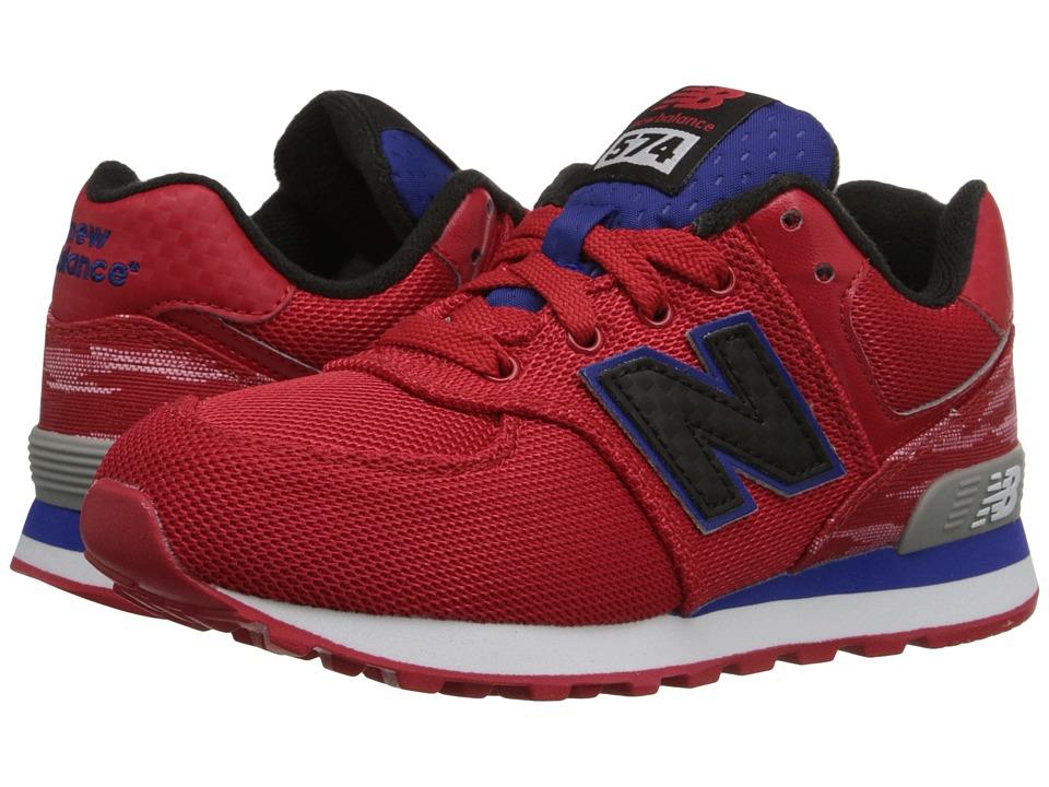 New Balance Kids Summer Waves 574 Little Kid Red/Blue Boys Shoes