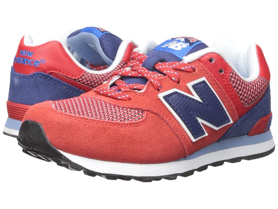 New Balance Kids - Summit 574 (Big Kid) (Red/Blue) Boys Shoes
