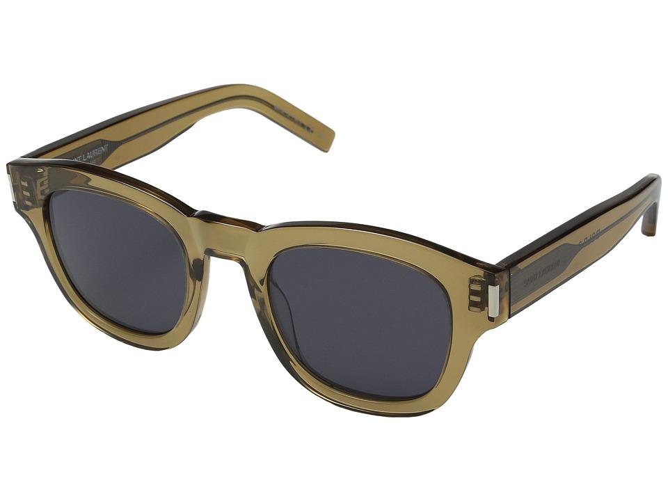 Saint Laurent Bold 2 Opale Olive/Grey Fashion Sunglasses