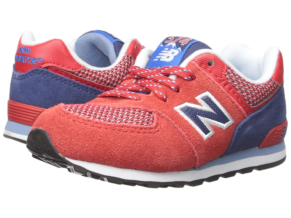 New Balance Kids - Summit 574 (Infant/Toddler) (Red/Blue) Boys Shoes