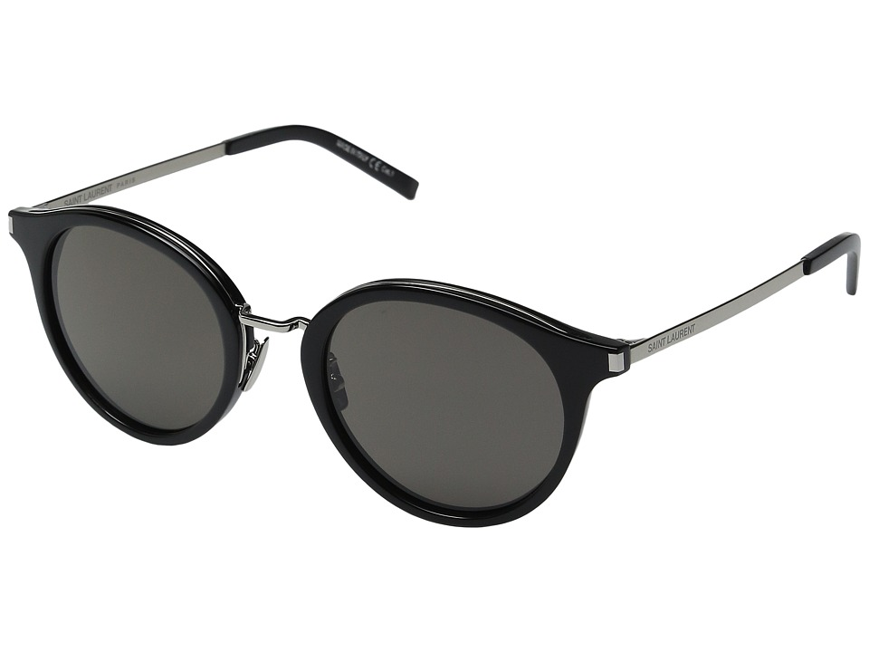 Saint Laurent - SL 57 (Black/Smoke Barberini Mineral Lens) Fashion Sunglasses