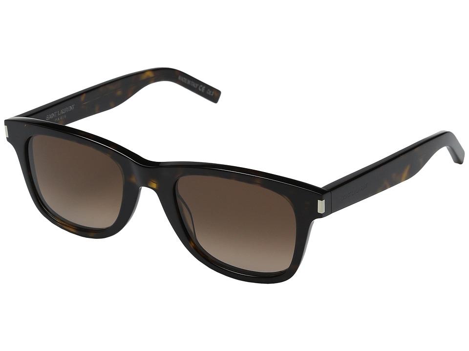 Saint Laurent - SL 51 (Dark Havana/Brown Gradient) Fashion Sunglasses