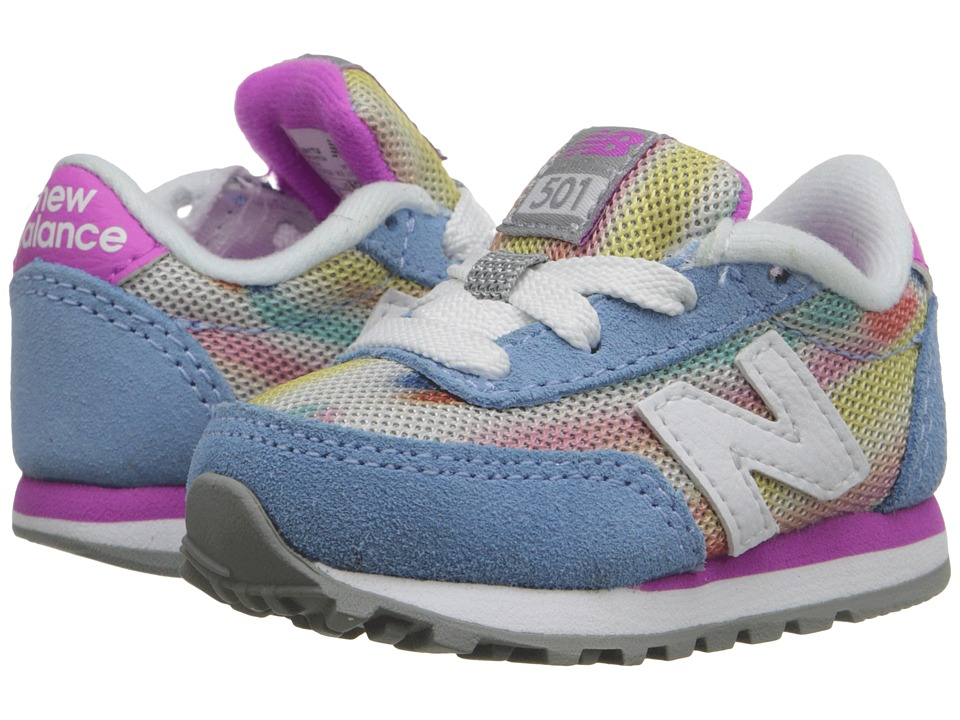 New Balance Kids State Fair 501 Infant/Toddler Blue/Purple Girls Shoes