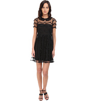 RED VALENTINO - C.Abito Ric.Cappette A Festone Su P.D'E Dress