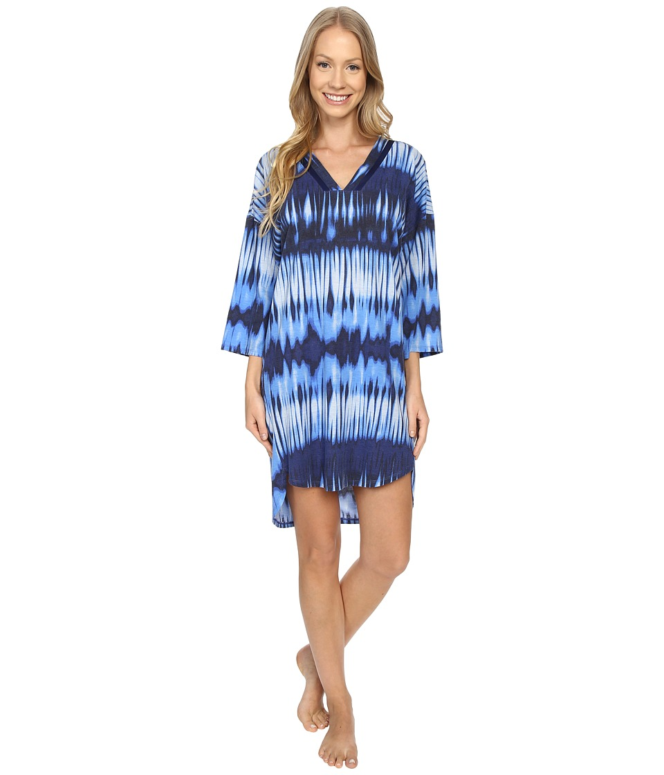 N by Natori Mirrored Tunic Astor Blue Womens Pajama