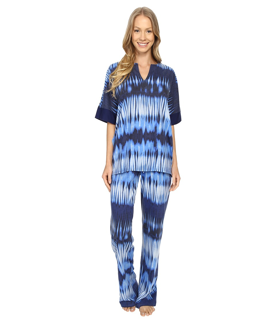 N by Natori Mirrored PJ Astor Blue Womens Pajama Sets