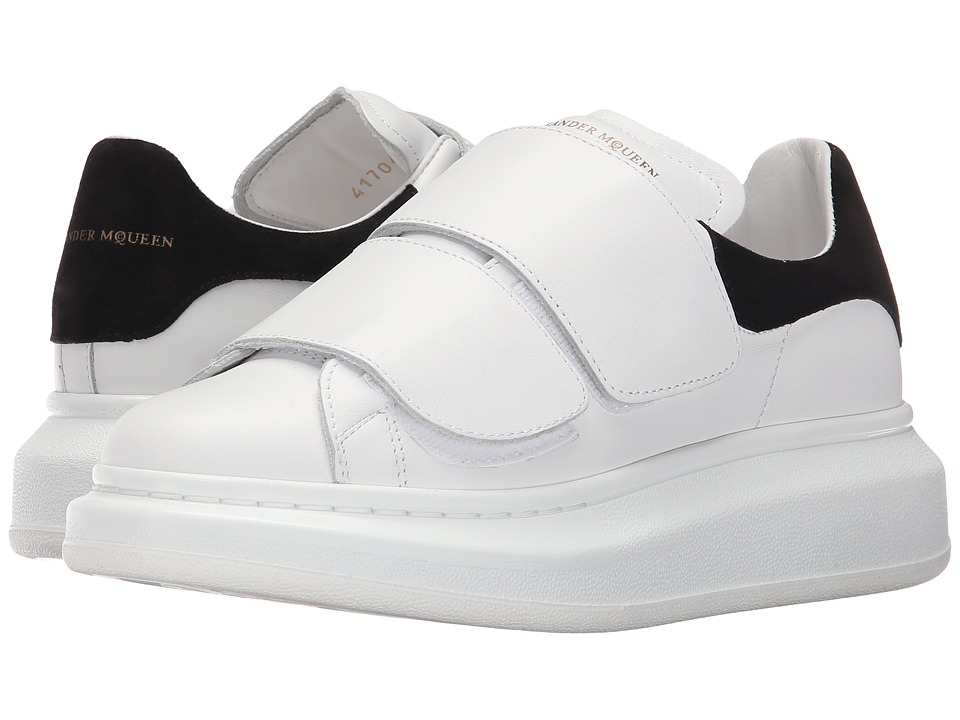 Alexander McQueen - Hook-and-loop Oversized Sneaker (White/Black) Womens Shoes