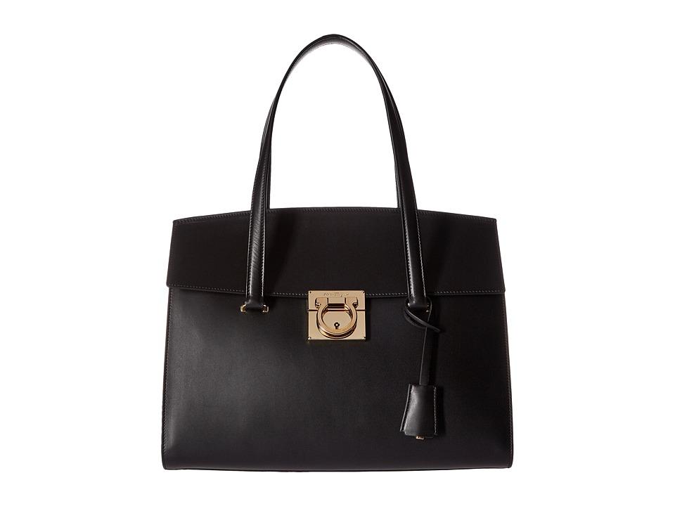 Salvatore Ferragamo - 21F818 Mara (Nero) Tote Handbags