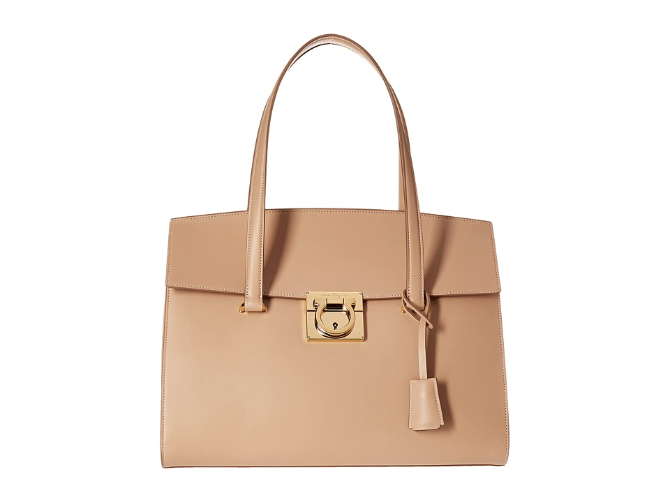 Salvatore Ferragamo - 21F818 Mara (New Bisque) Tote Handbags