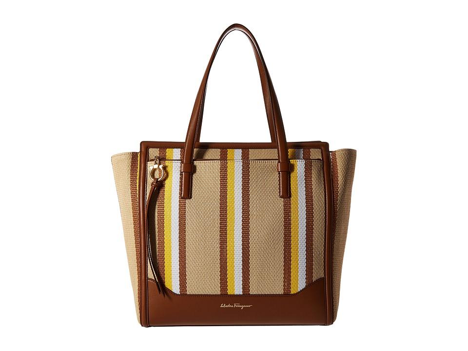 Salvatore Ferragamo - 21F739 Amy (Mimosa/Lait) Tote Handbags