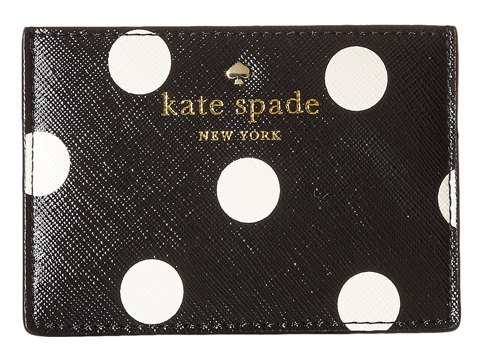 Kate Spade New York Cedar Street Dot Card Holder Black/Clotted Cream Credit card Wallet