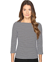 Kate Spade New York - 3/4 Sleeve Stripe Everyday Tee