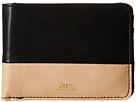 Obey Gentry Deuce Bi-Fold Wallet (Black/Tan)