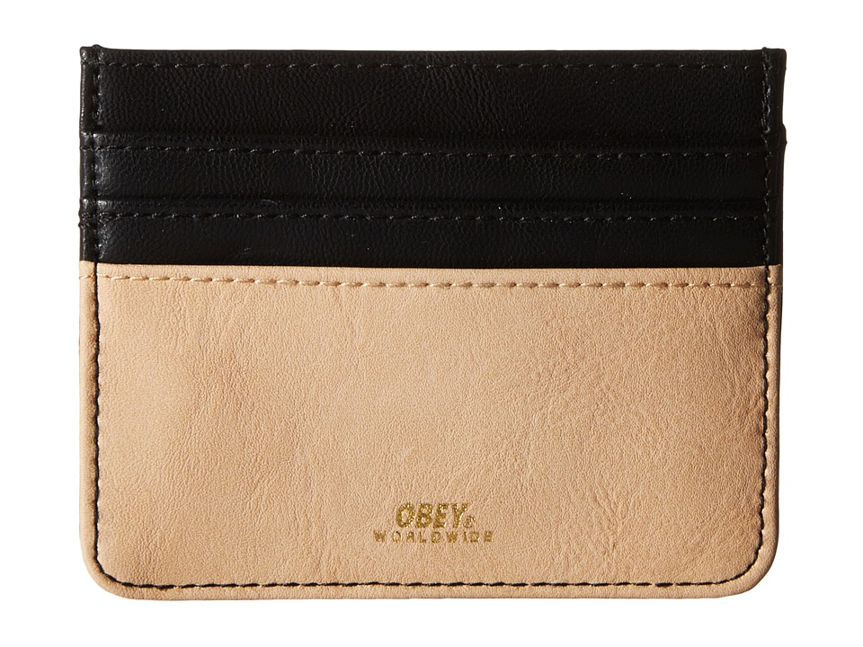 Obey - Gentry Deuce ID Wallet (Black/Tan) Wallet