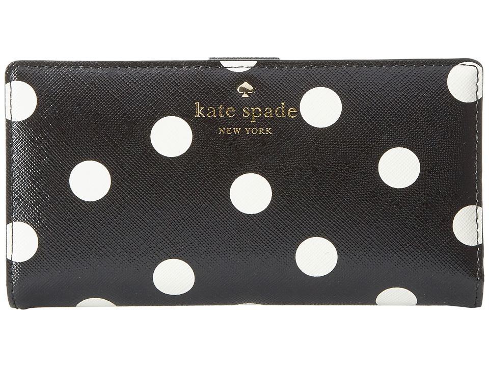 Kate Spade New York Cedar Street Dot Stacy (Black/Clotted Cream) Clutch Handbags