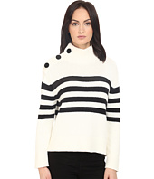 Kate Spade New York - Stripe Chunky Mock Neck Sweater