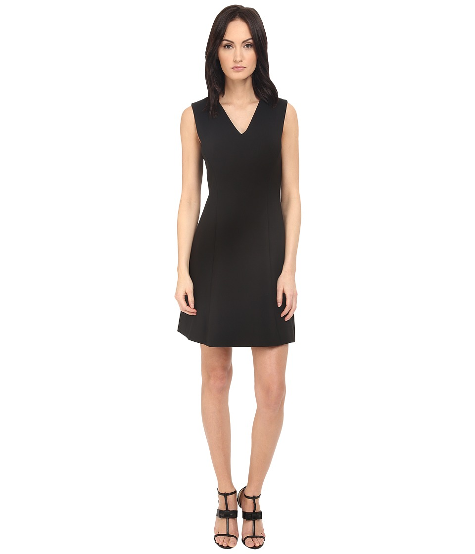 Kate Spade New York Crepe A Line Dress Black Womens Dress
