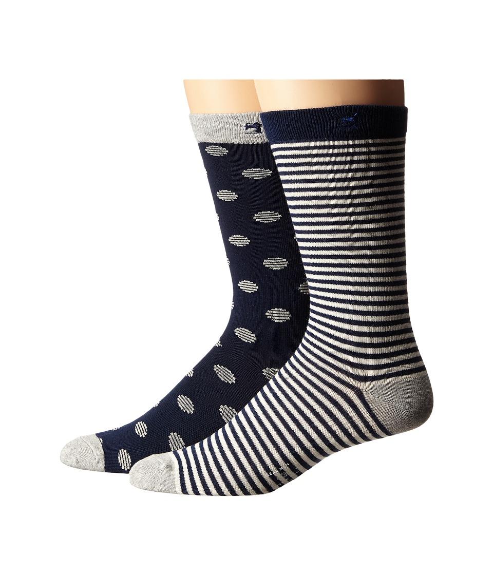 Scotch amp Soda 2 Pack Classic Socks Grey/Navy Mens Crew Cut Socks Shoes