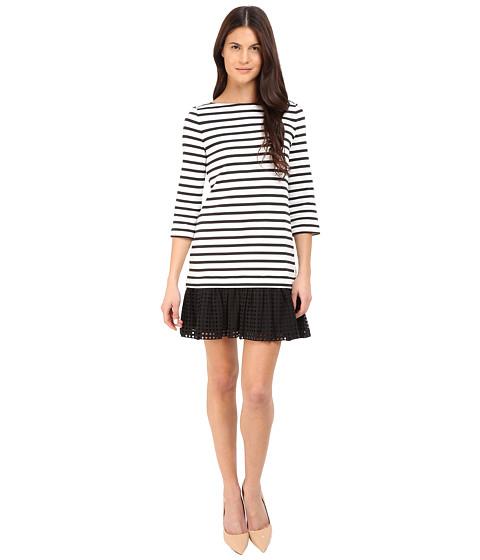 Kate Spade New York Dot Eyelet Stripe Dress