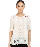 Kate Spade New York - Embroidered Daisy Swing Top