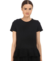 Kate Spade New York - Dot Eyelet Inset Tee