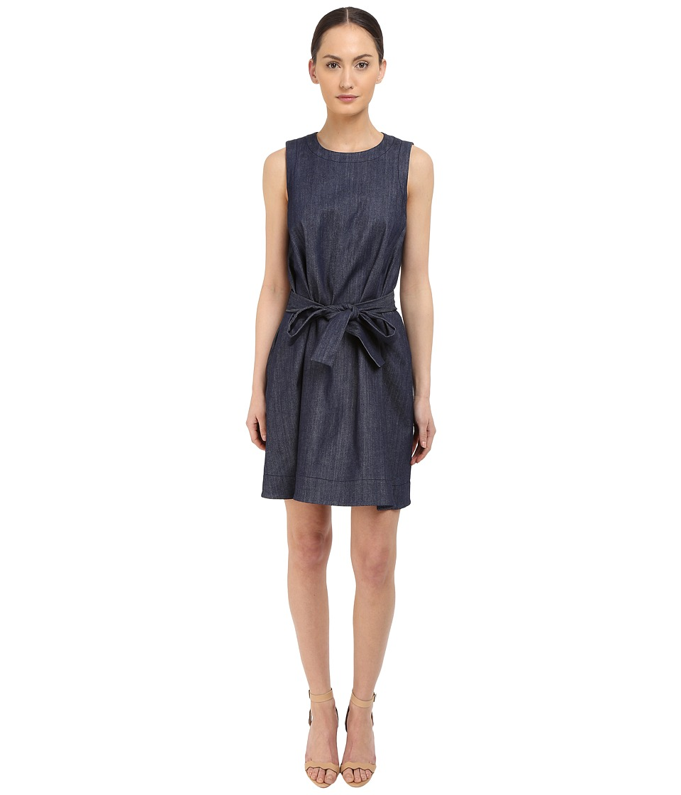Kate Spade New York Denim Fit and Flare Dress Dark Denim Womens Dress