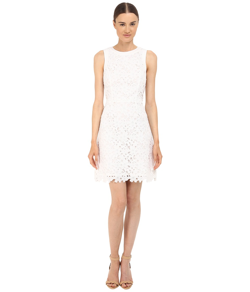 Kate Spade New York Floral Lace A Line Dress Fresh White Womens Dress