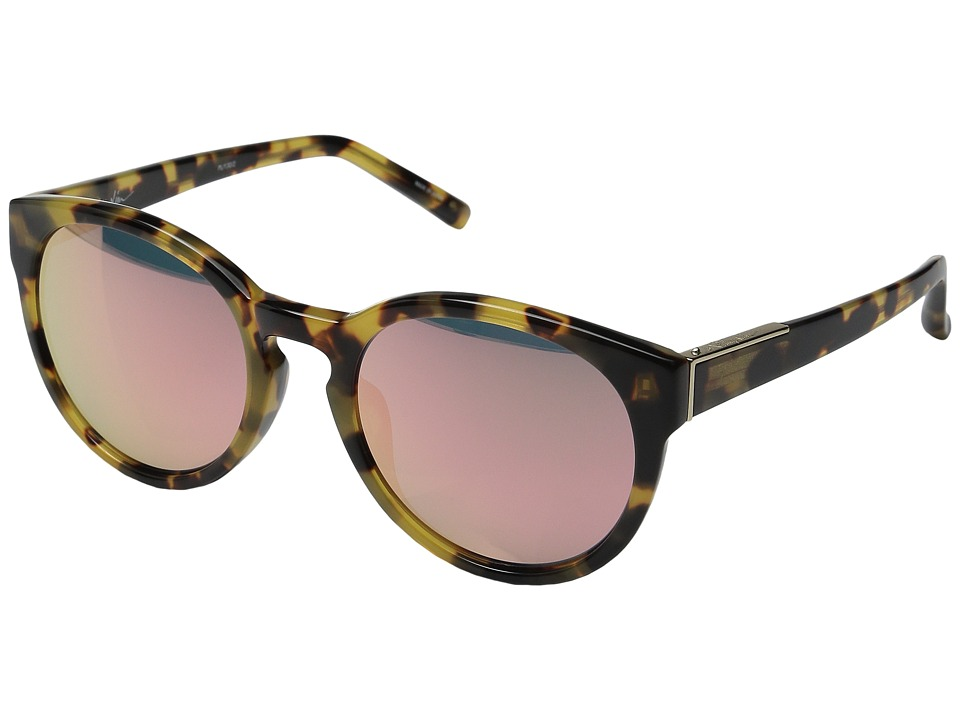 Image of 3.1 Phillip Lim - PL1226C4SUN (Brown Wood/Submarine/Blue) Fashion Sunglasses